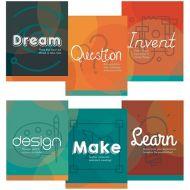 Makerspace Etiquette Mini Poster 6/Set PD137-2118