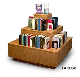 Book Display Furniture- 3 Tier Island New Arrivals Display Rack