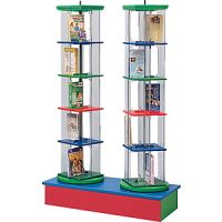 M-Line Double Tower Display Stands With Low Base