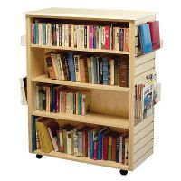 Mobile Dual Slatwall Book Display shelves