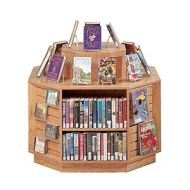 Book Display Furniture -Octagon Display Island Shelves