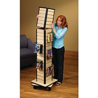 New Arrivals Display Rack- Mobile Slatwall Rotating Tower