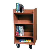 Laminate Wood Narrow Book Trolley