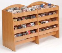 CD DVD High Capacity 4 Tier Display Rack