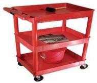 Economy Small Plastic 3 Level Utility Carts 17PMTAMK-168R