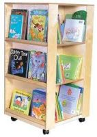 Small Four Side Books Display Tower