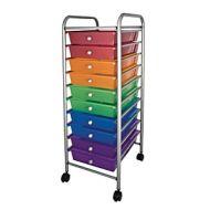 Mobile Storage Carts 10 Tubs