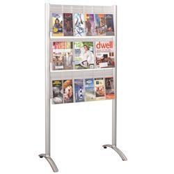 Luxe 9 Pocket Magazine Display Rack B81531003