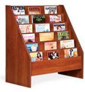 Magazine Rack- Cascading Design 6 Tiers