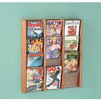Wooden Mallet Stance Wall Mount Magazine Rack