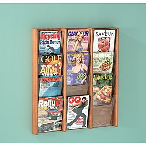 Magazine Rack- Wall Mount Design