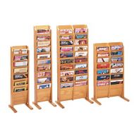 Magazine Rack -Wooden Mallet Cascading Floor Rack