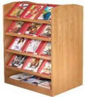Magazine Rack- Double Side Display Shelves
