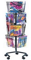 Wire Rotary Magazine Display Rack 16 Pockets, PD132-0670