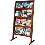 Wooden Mallet Slope Magazine Rack