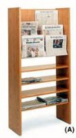 Newspaper Display Rack Compact Design