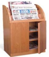 Newspaper Display Cabinet with Door