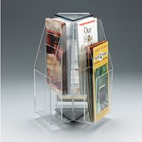 Revolving Table Top Pamphlet 6 Pockets Rack. PD149-9523