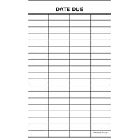 Date Due Slip 4 Column Self-Adhesive Strip Backing