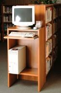 OPAC Classic Standing Station 1 Shelf. 14PMT359-6862