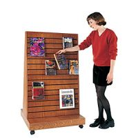 A-Frame Slatwall News Arrival Books Display Rack