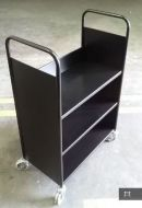 Economical Steel Book Trolley 3 Slop Shelves 15PMT316-3S