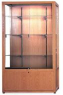 Glass Display Case With Cabinet. 15PMTB696