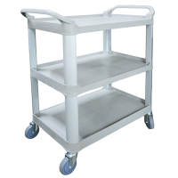 Economy Large Plastic 3 Level Utility Cart