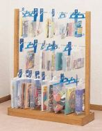 Wooden Hanging Bags Display Rack-3 Tiers