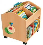Four Compartments Books Browser Cart