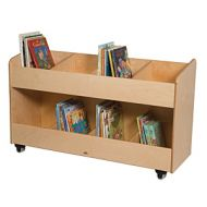 8-Section Book Organizer Cart