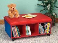 Mobile Bench Book Shelves