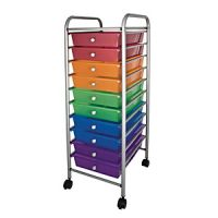 Mobile Storage Carts 10 Tubs