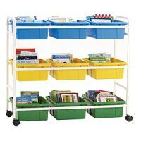 Mobile Storage & Browsing Cart 9 Tubs  PD149-0253