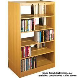 Classic Design Laminate Wood Double Face Book Shelves