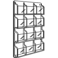 SAFCO Wall Mount Magazine Plastic Pocket Rack