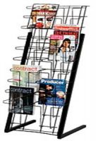 Wire Magazine Floor Display Rack 20 Pockets, PD135-7219