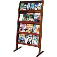Wooden Mallet Slope Magazine Rack