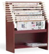 Classic Newspaper Display Rack with Back Panel