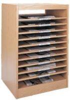 Newspaper Cabinet 10 shelves. 15PMTB675-1301