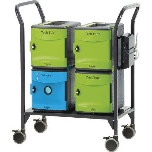C-Tech 18 Device Charging Cart With UV Tub. PD138-0537