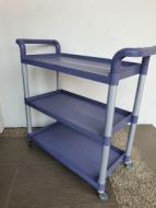 Economy Small Plastic 3 Level Utility Carts. 17PMTAMK-168R