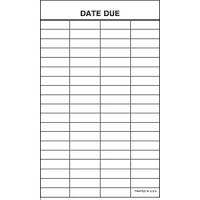 Date Due Slip 4 column- DDS/PSS/4